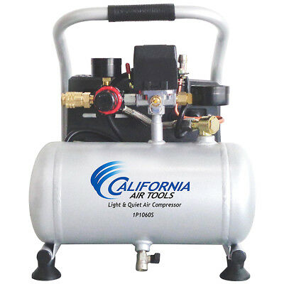 California Air Tools 1P1060S .6 Hp 1.0 Gallon Steel Tank Portable Air Compressor