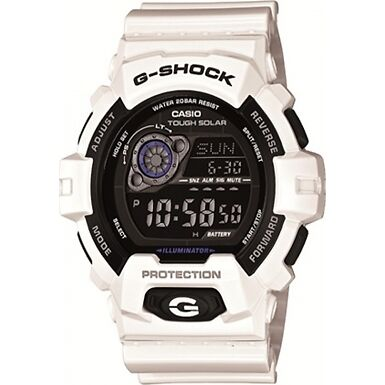 New Mens Casio GR-8900A-7ER G-Shock World Time White Resin Strap Watch RRP £130