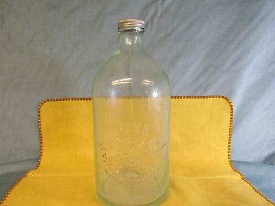 LARGE Pure Natural Mild Spring Water Bottle Comstock Park,Mich With Original Cap