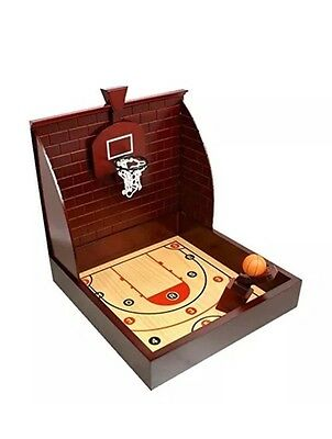 Basketball Game CHH Toy Table Top Game Movable Wooden Flipper