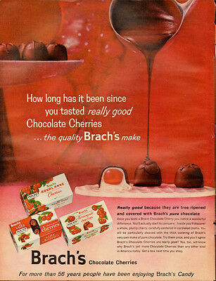 1954 Vintage ad for Barch's Chocolate Cherries  (122913)