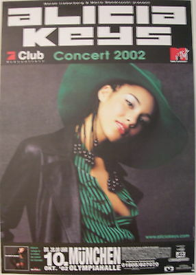 Alicia Keys Concert Tour Poster 2002 Songs In A Minor