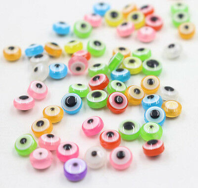100Pcs 8mm Acrylic Eyes Loose Spacer Beads Jewelry Making DIY Craft New
