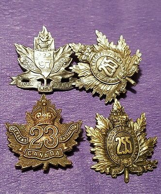 97th & 255th Officers 23rd Unlisted 255th OR's Collar Badges