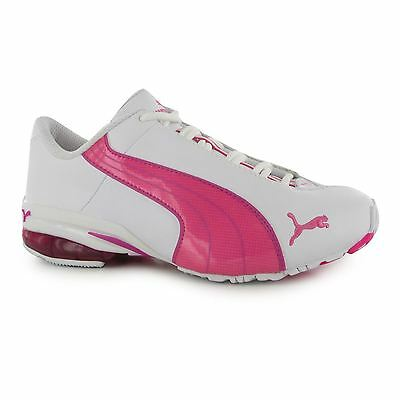 Puma Jago ST Running Trainers Junior Girls White/Pink Sports Shoes Sneakers