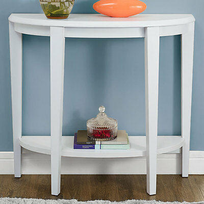 Half Moon Accent Table - White