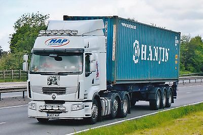 Col Photo Map Logistics Renault Artic Container Trailer - Ka57 Map