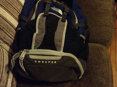 The North Face Sweeper Blue And Black Backpack
