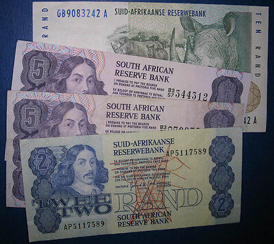 Lot,4 South Africa Banknotes 1981-1993