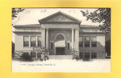 Greenville,OH Ohio, Carnegie Library used 1906