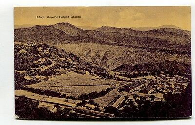 Jutogh, India - general view & parade ground - old postcard