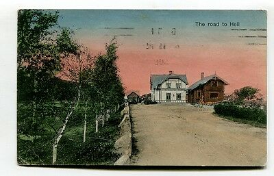 Norway - The Road to Hell - 1913 used postcard