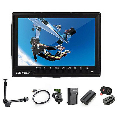 "Feelworld 7"" 1920x1200 Video Camera Field Monitor +Release Plate +Rod Clamp"