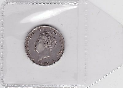 1826 George Iv Silver Shilling In Good Fine Or Better Condition