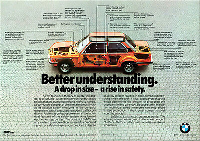 BMW 323i 320i 320 316 E21 3 SERIES RETRO A3 POSTER PRINT FROM CUTAWAY ADVERT 77