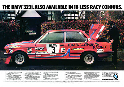 BMW 323i E21 3 SERIES RETRO A3 POSTER PRINT FROM CLASSIC ADVERT 1979
