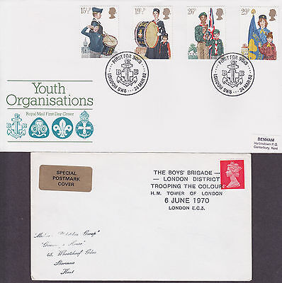 'THE BOYS BRIGADE' - 6 x Covers/Cards 1970-1983 inc FDC