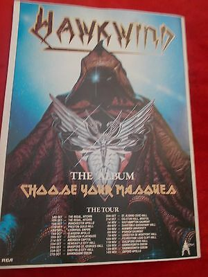 Hawkwind Choose Your Massues Tour Programme 1982/83
