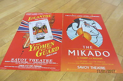 D'Oyly Carte Posters x 2 at Savoy Theatre