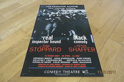 David Tennant Real Inspector Hound/Black Comedy Poster