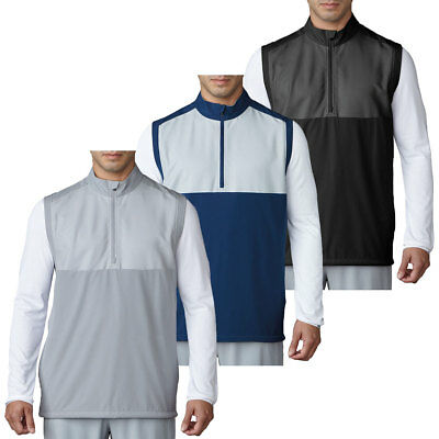 Adidas Golf 2017 Mens 1/4 Zip Competiton Stretch Wind Vest Water-Resistant