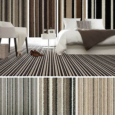 Brown Striped Carpet, Beige Stripe Carpet, Cheap Carpets, Loop, Twist, Saxony 4m