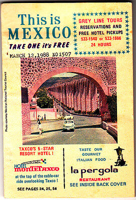 This Is Mexico March 12 1988 Sights Hotels Restaurants Vintage Ads