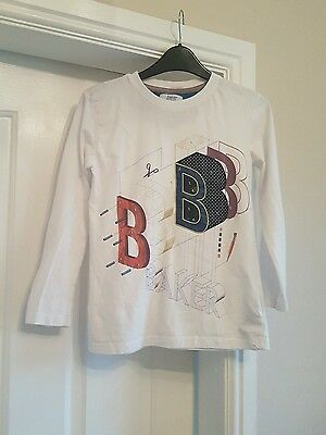 boys ted baker long sleeve white top age 9-10