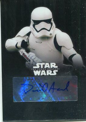 Star Wars Force Awakens Chrome Autograph Card CA-DAF David Accord as FN-2199