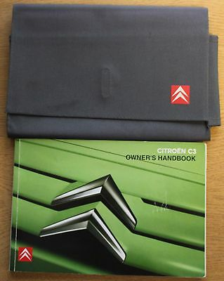 Citroen C3 Owners Manual Handbook Wallet 2005-2009 Pack 13448