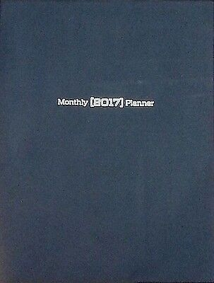 NEW 2017 Monthly Page Planner~Calendar~OrganIze~NAVY BLUE~Appointment Book~LARGE
