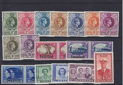 Swaziland KGVI Mounted Mint Collection