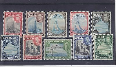 Bermuda KGVI 1938-52 SG 110/115 Mounted Mint Collection