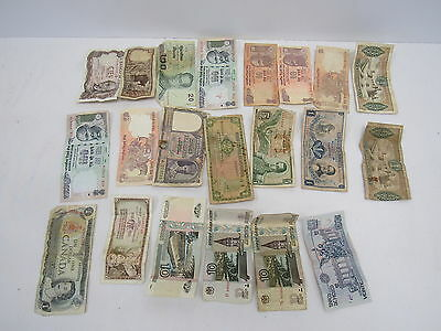 Job Lot of 21 Bank Notes Old & Foreign - WAR P23