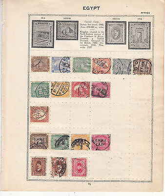 EGYPT on OLD ALBUM PAGE Mint/Used (Stamps will be removed for Shipping)..