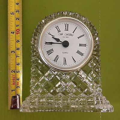 """24% Lead crystal  carriage clock standing 4 1/2"""" high"""