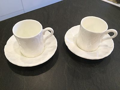 2 x Coalport/Wedgwood Countryware Espresso Coffee Cups Cans and Saucers VGC