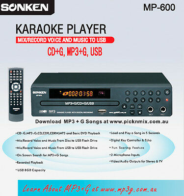 Cd+G/mp3+G Karaoke Player - Record Feature & Inbuilt Songbook Creator