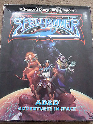 Tsr Ad&d 2E Spelljammer Adventures In Space  1049 Vgc Boxed Adv Dungeon Dragon