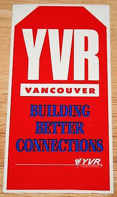 Old YVR Vancouver Airport (Canada) Building Better Connections Sticker