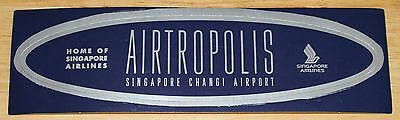 Old Airtropolis Changi Airport Singapore Airlines Sticker