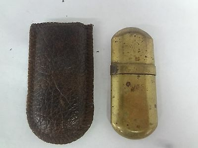 VINTAGE  BRASS No  5  LIGHTER WITH POUCH COLLECTIBLE   M-110