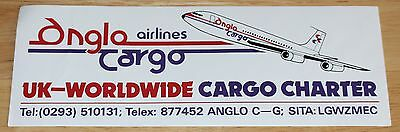 Old Anglo Cargo Airlines (UK) Boeing 707 Airline Sticker