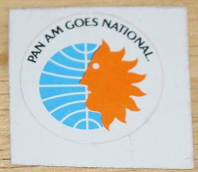 Old Pan Am & National Airlines merger Sticker