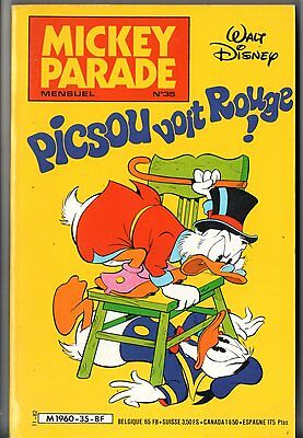 MICKEY PARADE n°35 ¤ EO 1982 ¤ PICSOU VOIT ROUGE