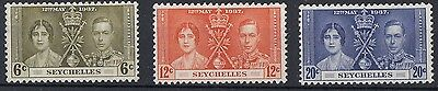 Seychelles  1937  Coronation     Mounted Mint   (552)
