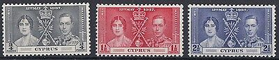 Cyprus  1937  Coronation     Mounted Mint   (564)
