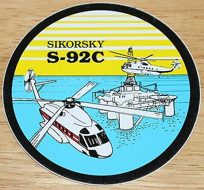 Sikorsky S-92C Helicopter Sticker