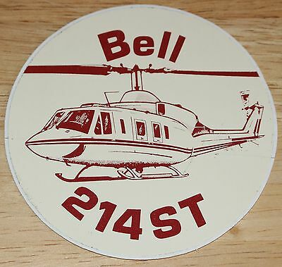 Old Bell 214ST Helicopter Sticker