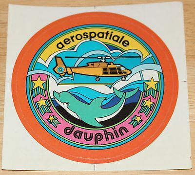 Old Aerospatiale Dauphin Helicopter Sticker